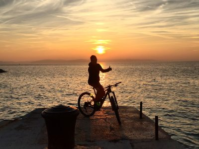 Bike tour, Villa Mihaela sunset